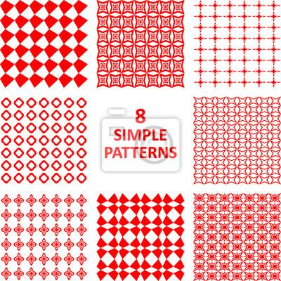 Red abstrakte Muster Sammlung