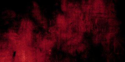 Bild Red and black horror background. Dark grunge red texture concrete
