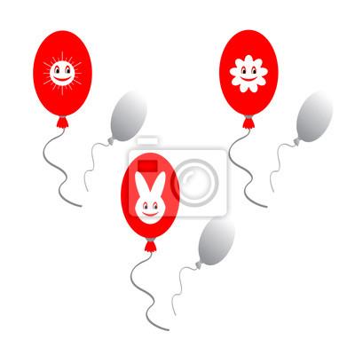Red Ballons mit lustigen Bildern