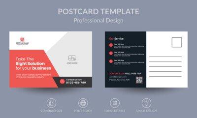 Bild Red Corporate business postcard or EDDM postcard design template