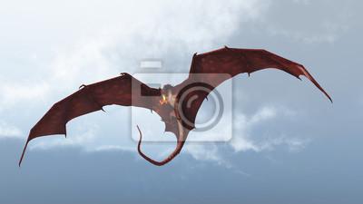 Red Dragon Offensives von einem bewölkten Himmel