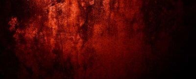Bild Red Grunge wall texture. Dark red grunge background. Horror Cement texture
