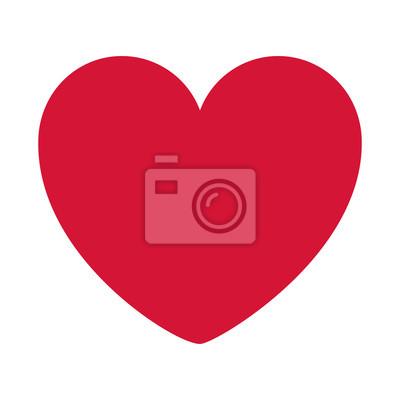 Bild Red Heart Design-Symbol flachen Vektor-Illustration