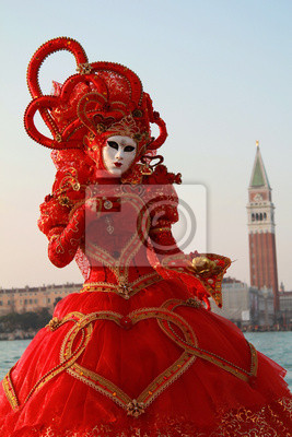 Red Karneval von Venedig Kleid