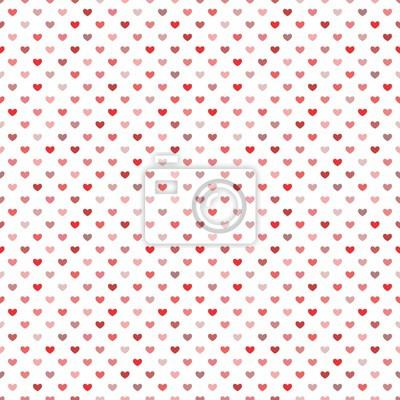 Red Little Herzen Nahtlose Muster