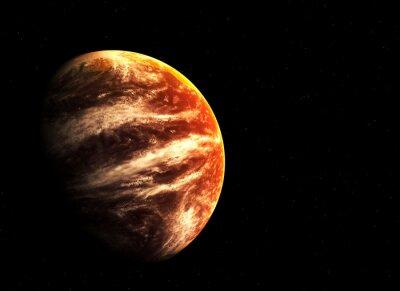 Bild Red Planet und Sterne