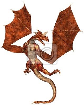 Red Scaled Drache Offensives