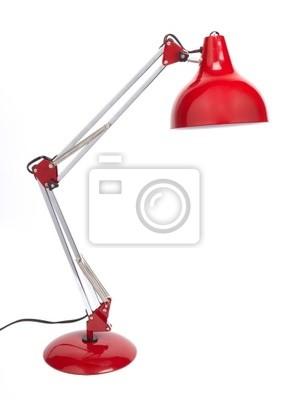 Bild Red Schreibtischlampe mit Spirale Typ Energiesparlicht.