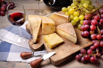 Bild Red wine, grapes and cheese