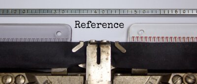 Bild Reference symbol. The word 'Reference' typed on retro typewriter. Beautiful background. Business and reference concept.