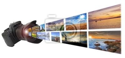 Reflex-Kamera, die Bilder