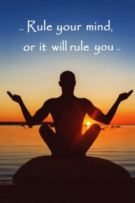 Bild Regel dein Geist oder es wird Sie Regel. Motivation für sich