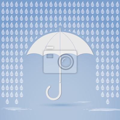 Regen und Sonnenschirm