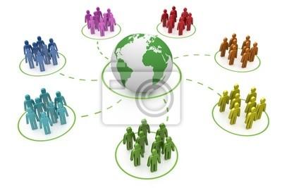Bild Regenbogen soziale Netzwerk