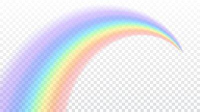 Bild Regenbogen-Symbol. Formbogen realistisch isoliert auf weißem transparenten Hintergrund. Buntes Licht und helles Design-Element. Symbol des Regens, Himmel, klar, Natur. Grafik-Objekt Vektor-Illustratio
