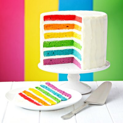 Bild Regenbogen-Torte