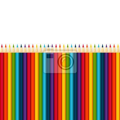 Regenbogen Vektor-Set von Buntstiften