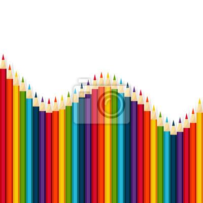 Regenbogen Vektor-Set von Buntstiften, Wellenform