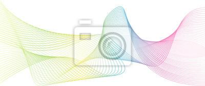 Regenbogenfarbe abstrakte Welle Hintergrund Vorlage