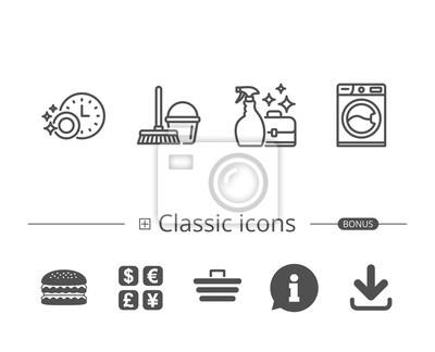 Reinigung Waschmaschine Und Hauswirtschaft Leinwandbilder Bilder