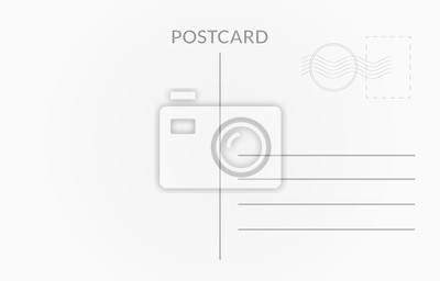Bild Reisekartendesign. Vektor weiße Postkarte Abbildung
