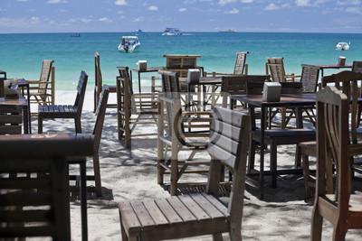 Restaurant am Strand.