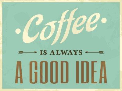 Bild Retro-Art-Kaffee-Plakat