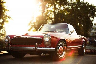Bild Retro Auto auf der Straße