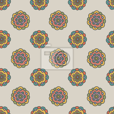 bild retro doodle blume nahtlose muster hand zeichnen vektor illustration - Schone Muster Zum Zeichnen