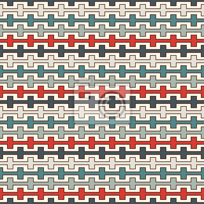 Retro Farben Nahtlose Muster Mit Zinnen Gekrümmten Linien