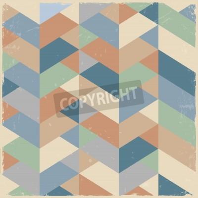 Bild Retro geometric background in pastel colors