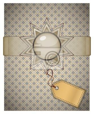 Retro-Hintergrund mit Ornament.
