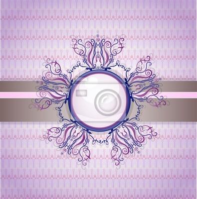 Retro-Hintergrund mit Ornament. Abbildung 10 Version