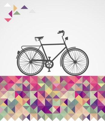Bild Retro Hipster Fahrrad geometrischen Elementen.