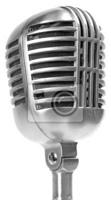 Bild Retro-Mikrofon auf weiß isoliert
