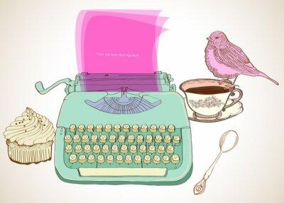 Bild retro Schreibmaschine Hintergrund