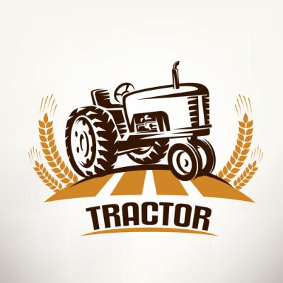 Bild Retro Traktor Vektor Symbol