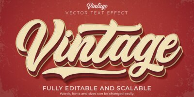 Bild Retro, vintage text effect, editable 70s and 80s text style