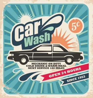 Bild Retro Wasch Poster