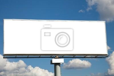 Bild Riesige leere Billboard gegen blauen Himmel für Ihre Werbung