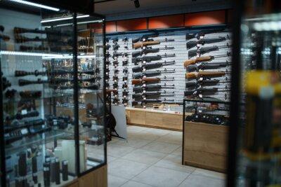Bild Rifle choice, showcase in gun shop, nobody