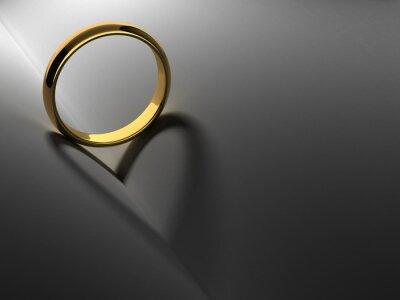 Bild Ring mit Herz Schatten