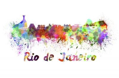 Bild Rio de Janeiro Skyline in Aquarell