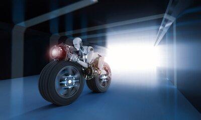 Bild Robotergeschwindigkeit bewegen