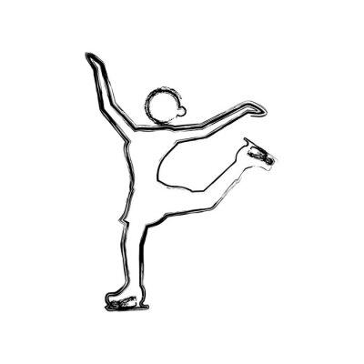 Roller und Schlittschuhe Sport Vektor, Illustration, Symbol
