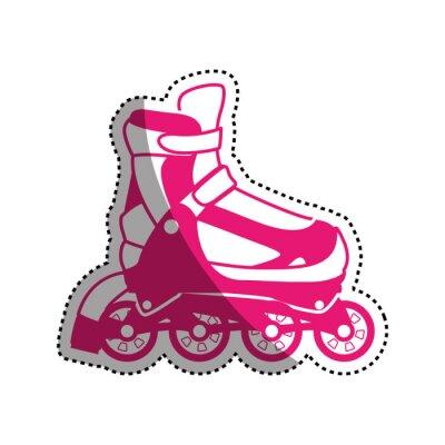 Roller und Schlittschuhe Sport Vektor-Symbol