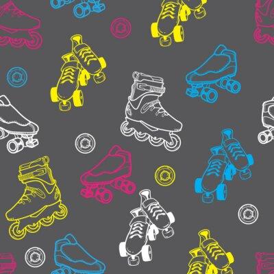 Bild Rollschuh nahtlose Muster