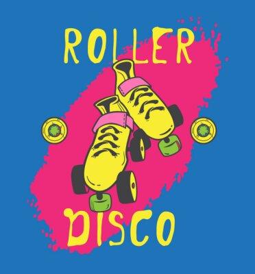 Bild Rollschuh und roller_disco Grafik-Design für T-Shirt