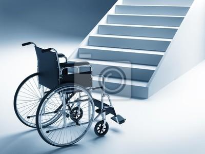 Rollstuhl und Treppen