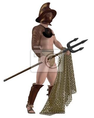 Roman Gladiator - Retiarius Typ mit Netz